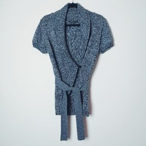BCBGMaxAzria Black/Gray Marled Sweater/Cardigan
